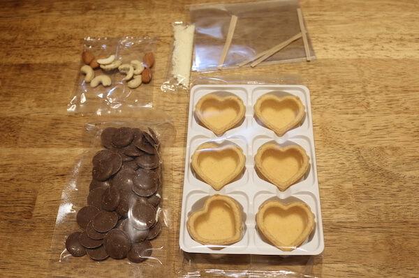 無印「自分でつくるチョコタルト」の中身