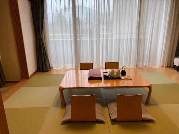 箱根翡翠デラックスツイン+畳(タイプB)の和室