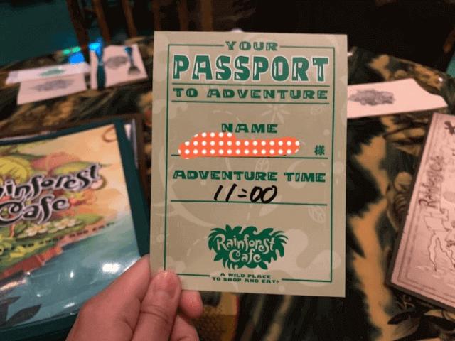 レインフォレストカフェのパスポート